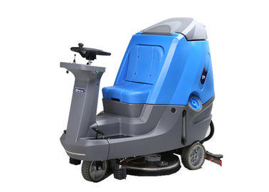 Ride On Drving Floor Scrubber Dryer Machine For Railway Station Blue / Grey