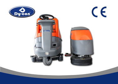 Clean In Place Automatic Battery Powered Floor Scrubber Machine 1160mm Rubber Blade